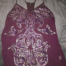 Express Purple Sequin Top M Photo