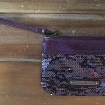 Express Purple Sequined Wristlet Clutch Photo