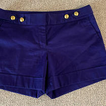 Express Purple Shorts With Gold Accent Size 6 Photo
