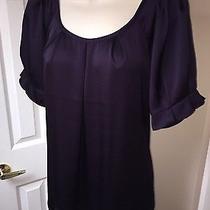 Express Purple Silk Blouse Nwot Size M  Photo