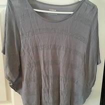 Express Purple Silver Striped Top Tunic Shirt Extra Small Xs  Photo