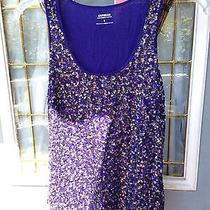 Express Purple Sparkle Tank L Photo