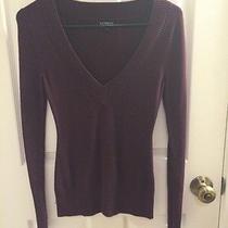 Express Purple v Neck Sweater  Photo