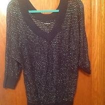Express Purple v-Neck Sweater Size Medium Photo
