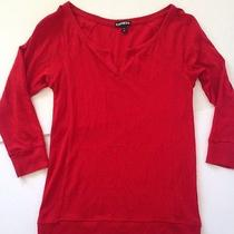 Express Red 3/4 Sleeve Top Photo