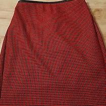 Express Red and Black Skirt Size 0 Photo