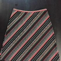 Express Red and Black Striped Skirt Xs Photo