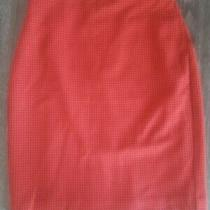 Express Red Black Houndstooth Pencil Skirt 2 Photo