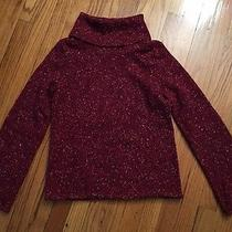 Express Red Cowl Neck Speckled Sweater Size Medium Photo
