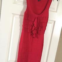 Express Red Dress Sz Small Excellent  Condition Photo