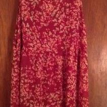 Express Red Dress With Flower Pattern Size M Photo