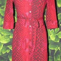 Express Red Hot Sexy Reptile Print Shirt Dress Size 2 Photo