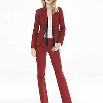 Express Red Lacquer Ultimate Double Weave Barely Boot Editor Pants Sz 4 Photo