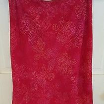 Express Red Patterned Skirt Women's Size Small  Photo