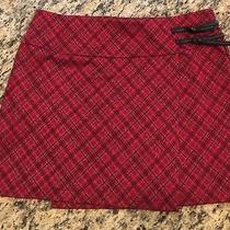 Express Red Plaid Skirt Size Large Photo