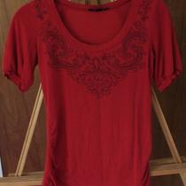 Express Red Print Top Size S Photo
