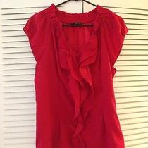 Express Red Ruffled Blouse Photo