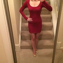 Express Red Sheath Sweater Dress Photo