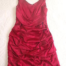Express Red Silk Dress Photo