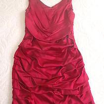 Express Red Silk Dress Photo