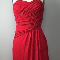 Express Red Sleeveless Draped Jersey Dress S Photo