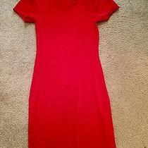 Express Red Sweater Dress Photo