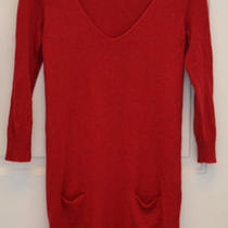 Express Red Sweater Dresssize Medium Photo