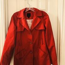 Express Red Trench Style Rain Coat Women's Size S Photo