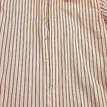 Express Red/white Men's 1mx Dress Shirt Size S - 14-14 1/2 Photo