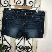 Express Relaxed Low Rise Jean Shorts Size 8 Photo