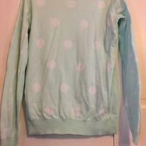 Express Reversible Sweater Mint and White Polka Dots Large Photo