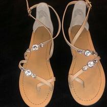 Express Rhinestone Nude Sandals Size 8 Photo