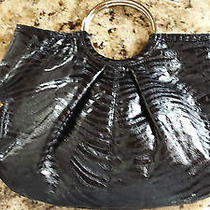 Express Ring Handle Purse - Black Bag W/ Studs Detail Photo