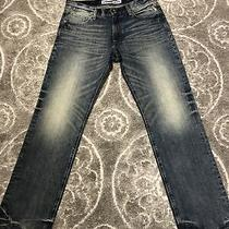 Express Rocco Slim Fit Straight Leg Blue Jeans Mens Sz 32 X 34 Dirty Wash Photo
