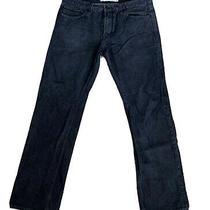 Express Rocco Slim Fit Straight Leg Button Fly Jeans Mens Sz. 36x34 Black Denim Photo