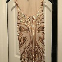 Express Rose Gold Sequins Dress Top Shirt Blouse Extra Small Xs Photo