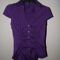 Express Royal Purple Blouse Top Sz Sm Photo