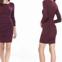 Express Ruched Sweater Dress  Size Large  Never Worn  Beautiful Berry Color Photo