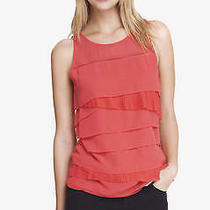 Express Ruffle Front Tank. Size Xs. Red Photo