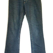 Express Sarula Women's Medium Wash Jeans Size 8 Stained Photo