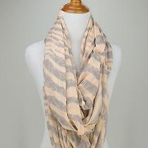 Express Scarf Pink Tiger Gray Print Infinity Tube Photo
