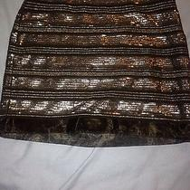 Express Sequin Black Skirt Photo