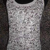 Express Sequin Front Tank Xs Nwot Photo