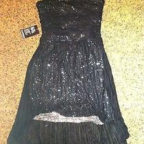 Express Sequin Low High Dress Size M 6 Nwt Photo