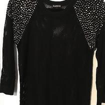 Express Sequin Mesh Sweater Medium Photo