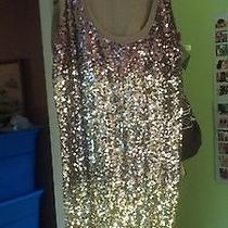 Express Sequin Ombre Tank Top Photo