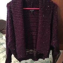 Express Sequin Open Front Sweater Photo