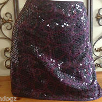 Express Sequin Purple Animal Print Sz- 1/2  Gorgeous Photo