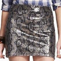 Express Sequin Snakeskin Print Skirt S Nwot Photo