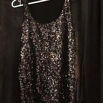 Express Sequin Tank Size S Black/gold Photo